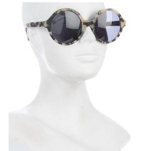 Illesteva 'Sophia' Tortoise Shell Round Sunglasses